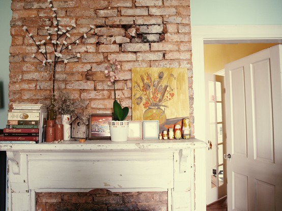 60 elegant modern and classy interiors with brick walls - Decorating walls with pictures ...