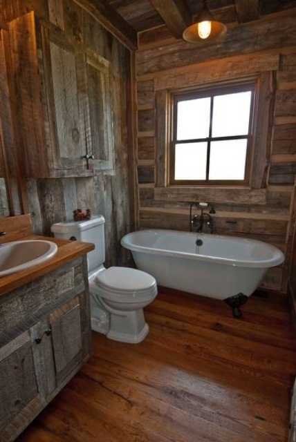 Bathroom Interior Designs Made In Rustic Barns