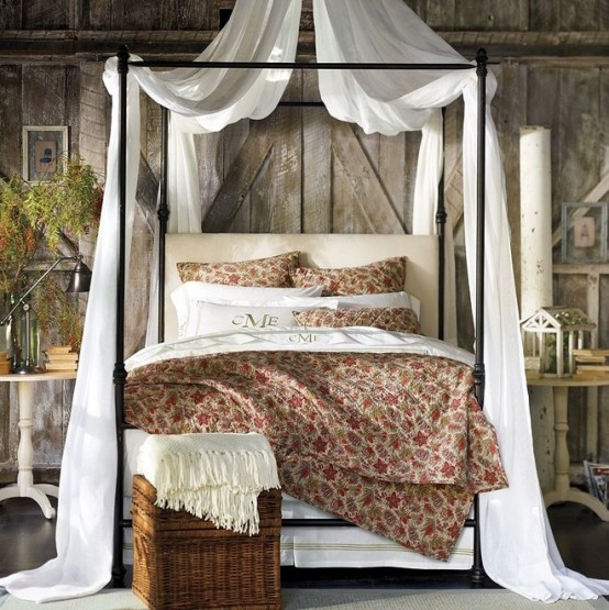 Make A Single Bedroom Special With A Super Stylish: 36 Rustic Barns Bedroom Design Ideas