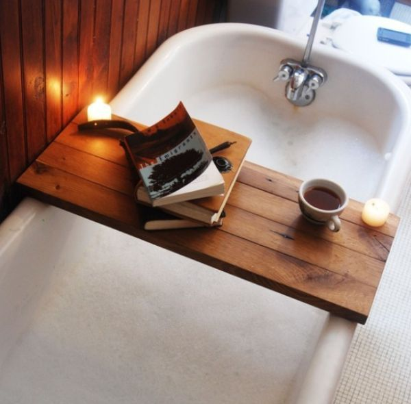 15 marvelous bathtub tray design ideas to enjoy every moment for Bathroom tray