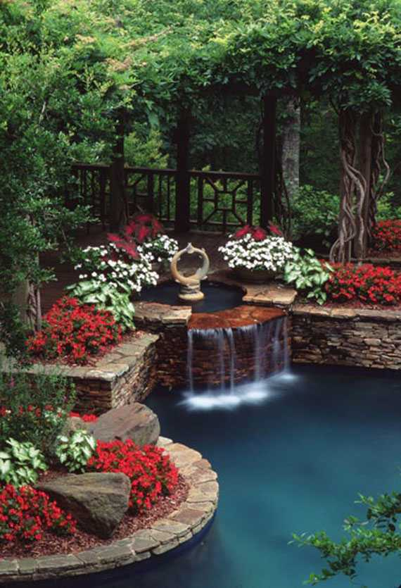 30 Beautiful Backyard Ponds And Water Garden Ideas on Stunning Backyards  id=12293