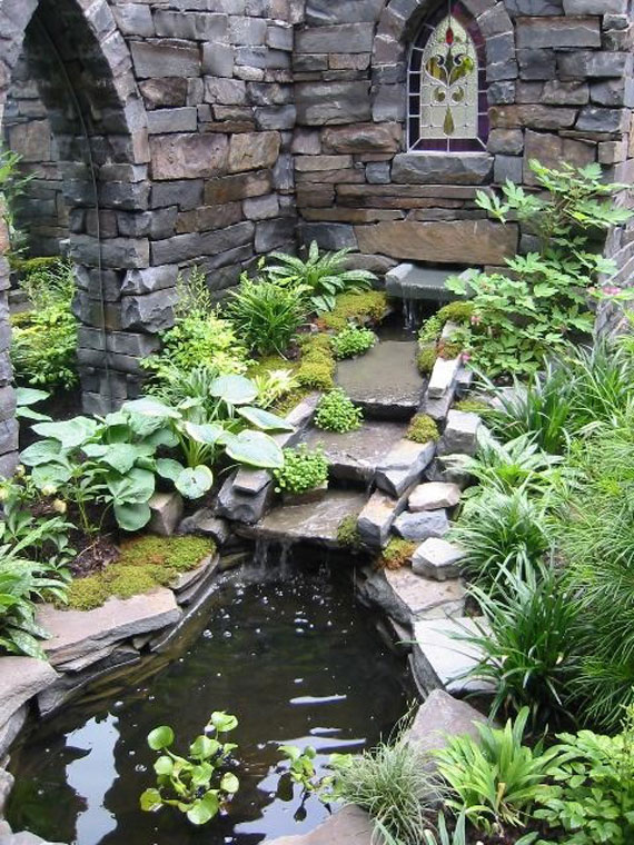 terrific water garden design with made to measure | 30 Beautiful Backyard Ponds And Water Garden Ideas
