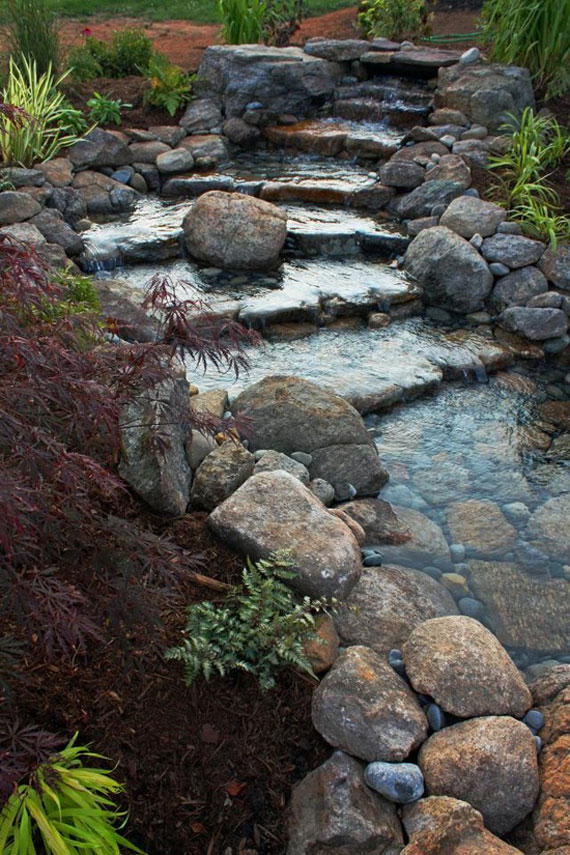 30 Beautiful Backyard Ponds And Water Garden Ideas on Backyard Pond Landscaping Ideas id=46869