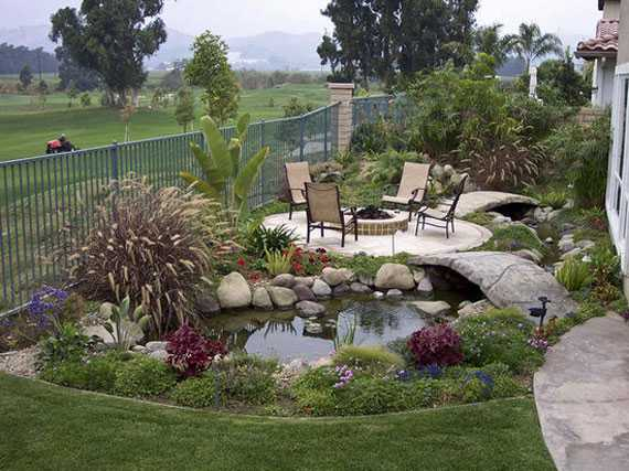 30 Beautiful Backyard Ponds And Water Garden Ideas on Backyard Pond Landscaping Ideas id=31505