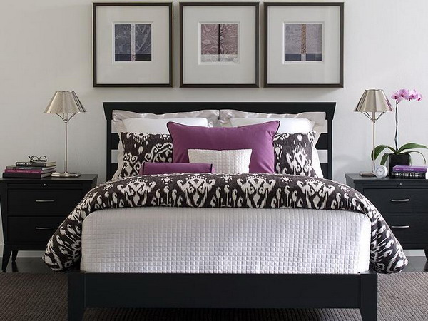19 purple and white bedroom combination ideas Purple and black bedroom
