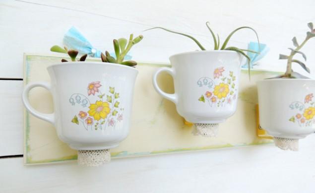 40 ιδέες για το πώς να χρησιμοποιήσετε ξανά φλιτζάνι τσάι Καλλιτεχνικά