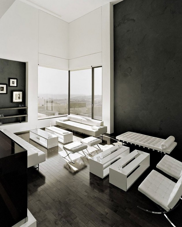 20 wonderful black and white contemporary living room designs for Living room amman