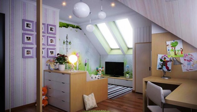 30 Attractive Green Kids Room Designs