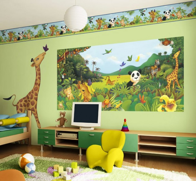 Kids Bedroom Green attractive green kids room designs