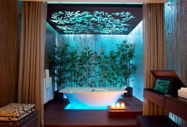 37 amazing bathroom designs that fused with nature for Amazing small bathroom design