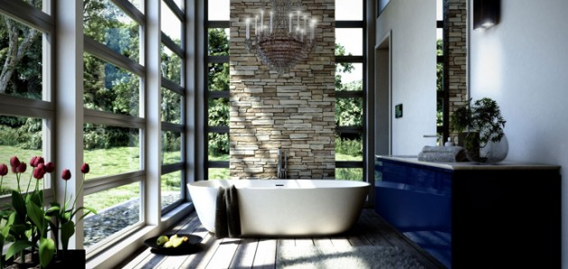 Surprising Amazing Bathroom Designs That Fused With Nature Inspirational Interior Design Netriciaus