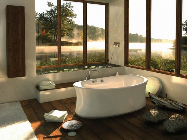 Incroyable 37 Amazing Bathroom Designs That Fused With Nature