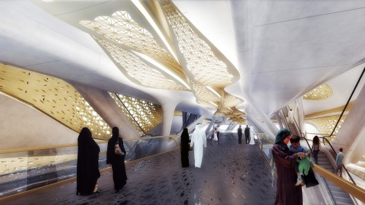 King Abdullah Financial District Metro Station by Zaha Hadid