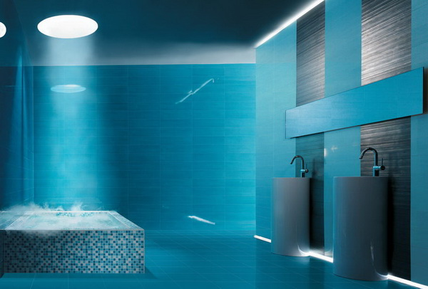 Top 5 modern bathroom color ideas that makes you feel for Faience bleu turquoise salle de bain