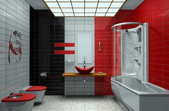 Bathroom Red 5 modern bathroom color ideas that makes you feel comfortable in