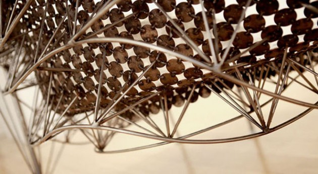 Creative Furniture made out of Recycled Coins