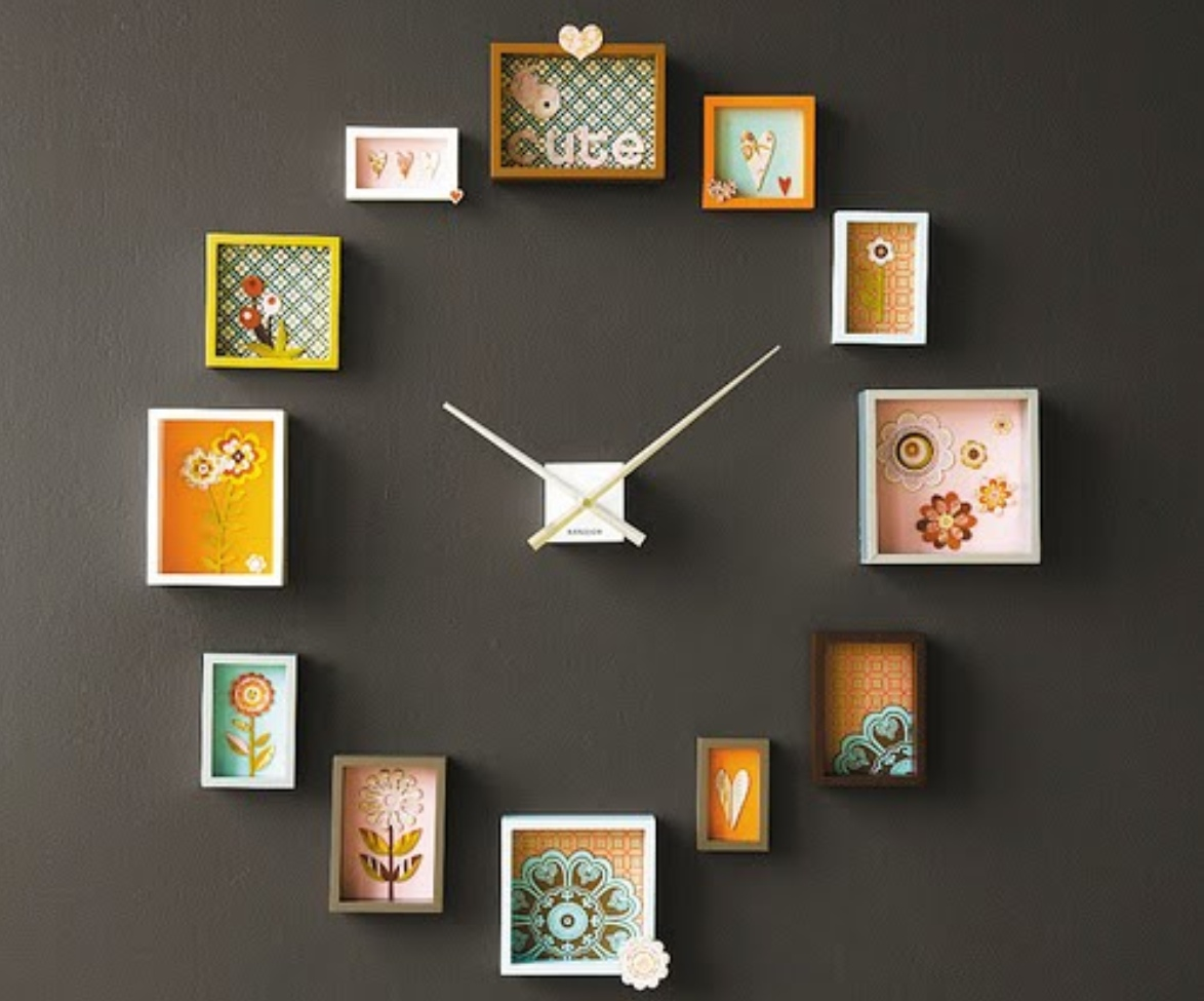 20 unusual and creative diy clocks for Cool wall patterns