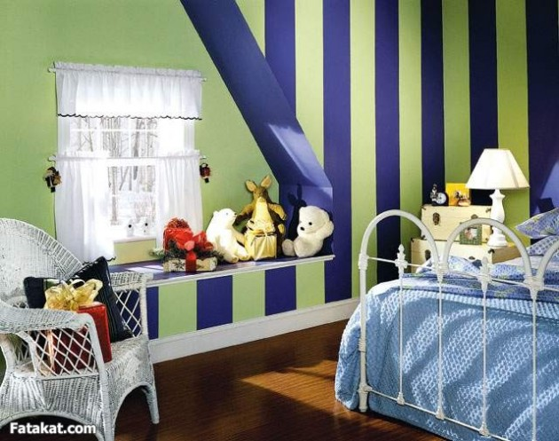 20 Elegant and Classy Striped Walls