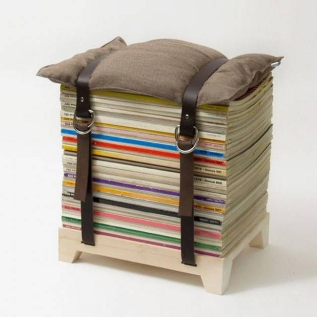 Hacer un taburete con revistas