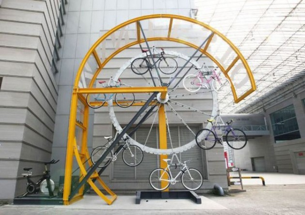 20 Funny and Unusual Bike Racks Designs