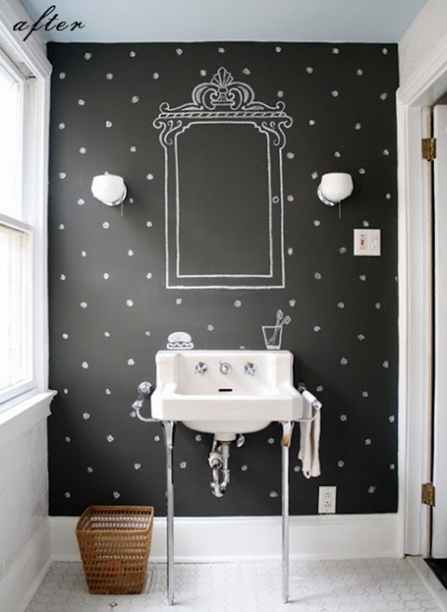25 amazing chalkboard wall paint ideas Bathroom wall paint designs