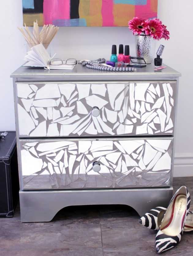 diy mirrored furniture mirrored desk 13 amazing ideas how to reuse your broken mirror