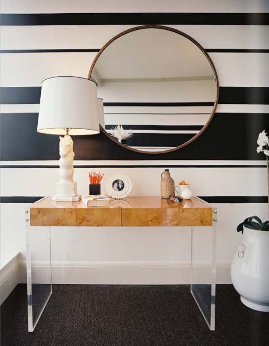 20 Elegant and Classy Striped Walls
