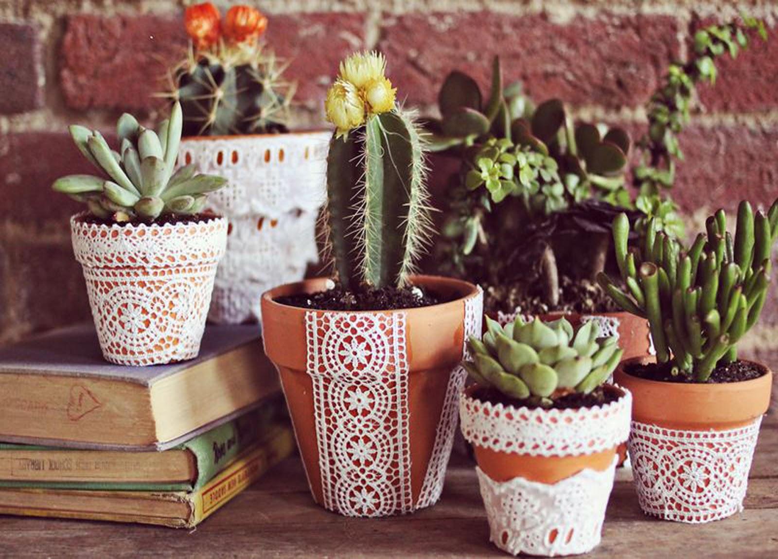 Как украсить кашпо для цветов своими руками
