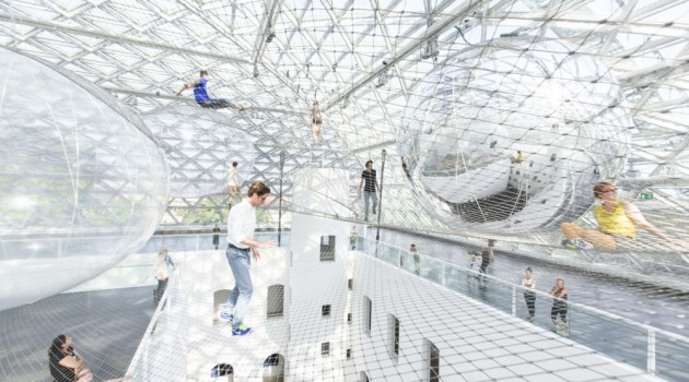 """In Orbit"" TOMÁS Saraceno's Largest Installation"