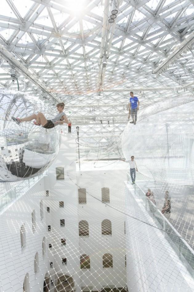 """In Orbit"" TOMÁS Saraceno's Largest Installation"