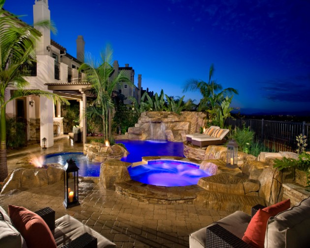 Tropical Backyard Landscaping Pool Designs