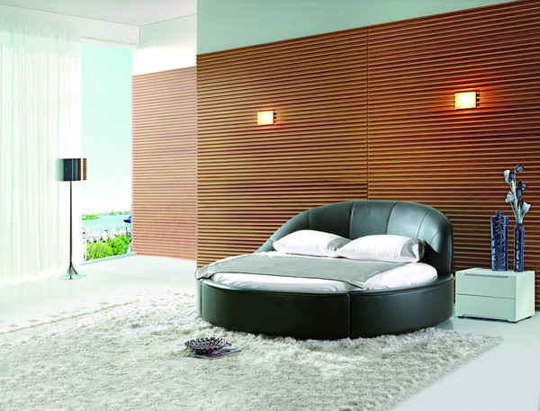 Round bed   This new and very popular innovation is for someone who thinks outside the box