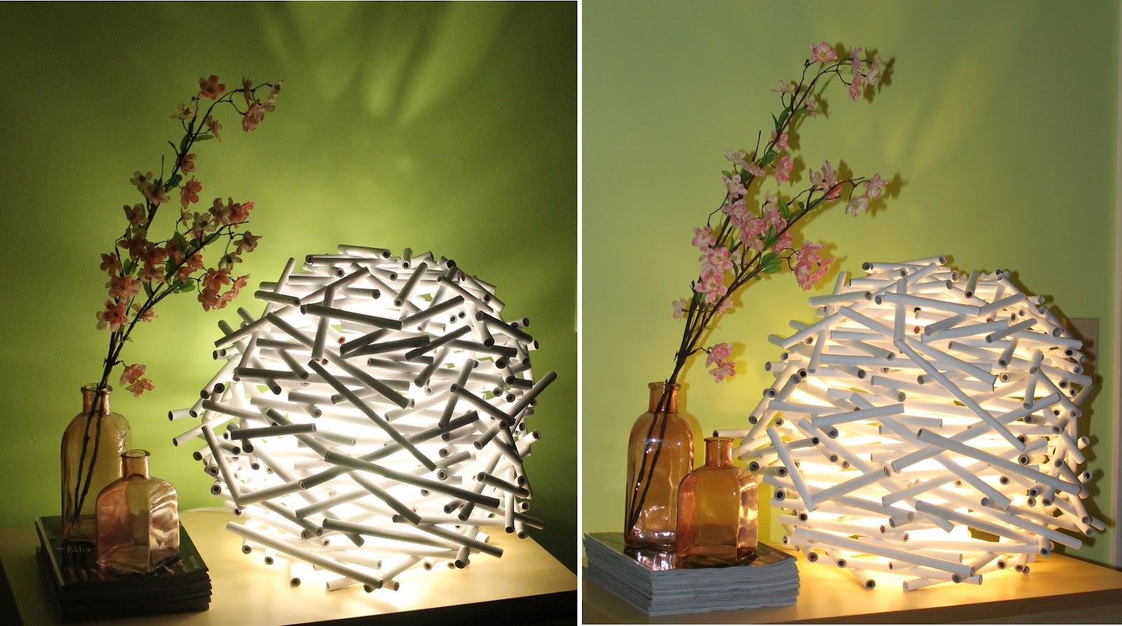 Оригинальные люстры и светильники своими руками 99