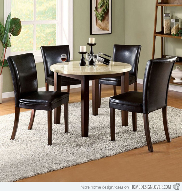 Living Room Design Ideas: Small Round Dining Tables For Big Style Statement