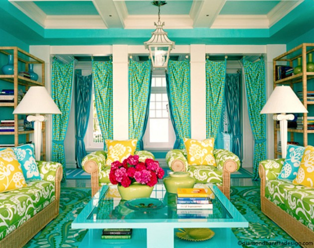 20 Gorgeous Colorful Living Room Design Ideas