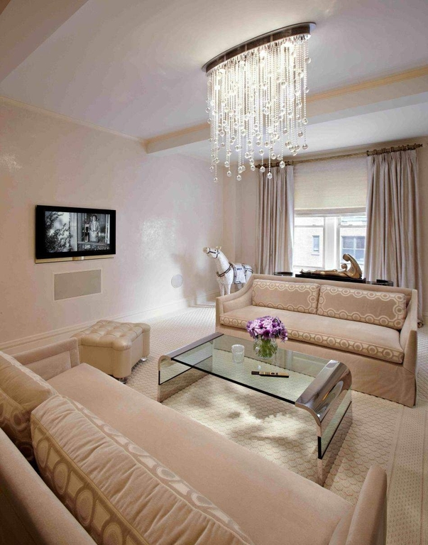 20 pretty cool lighting ideas for contemporary living room - Chandelier Living Room Ideas