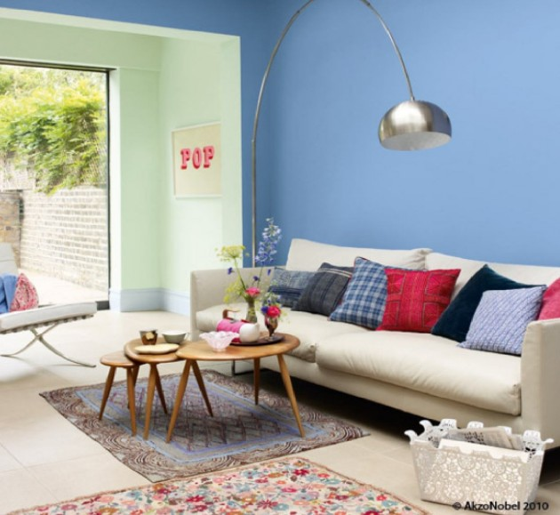 Decorating Ideas Dulux: 20 Gorgeous Colorful Living Room Design Ideas
