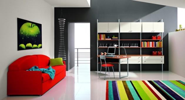 20 Gorgeous Colorful Living Room Design Ideas