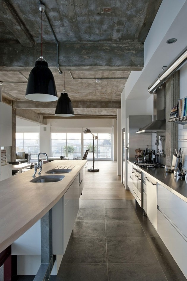30 industrial interior design kitchens design build ideas for Industrial modern kitchen designs