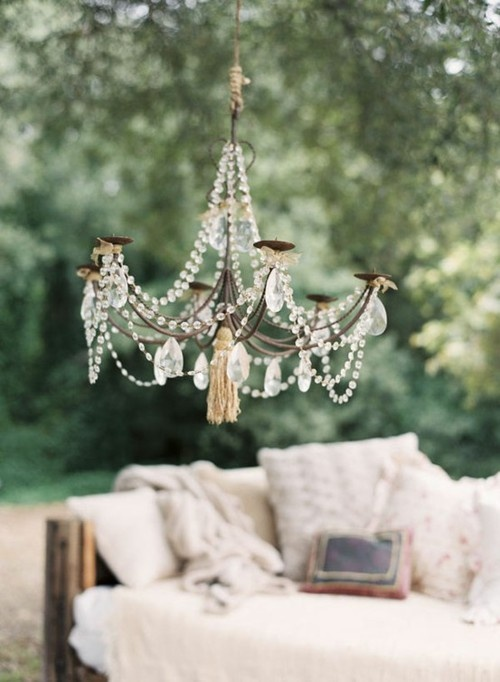 23 Charming Chandelier Ideas for Your Garden