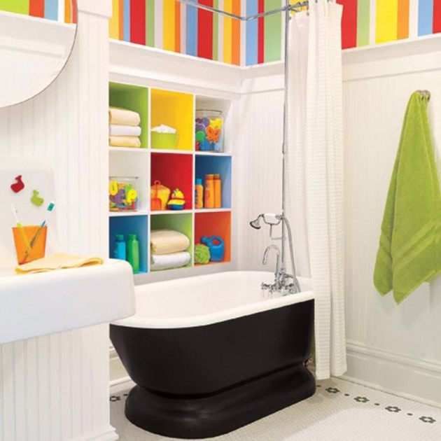 30 Colorful and Fun Kids Bathroom Ideas on Fun Bathroom Ideas  id=23451