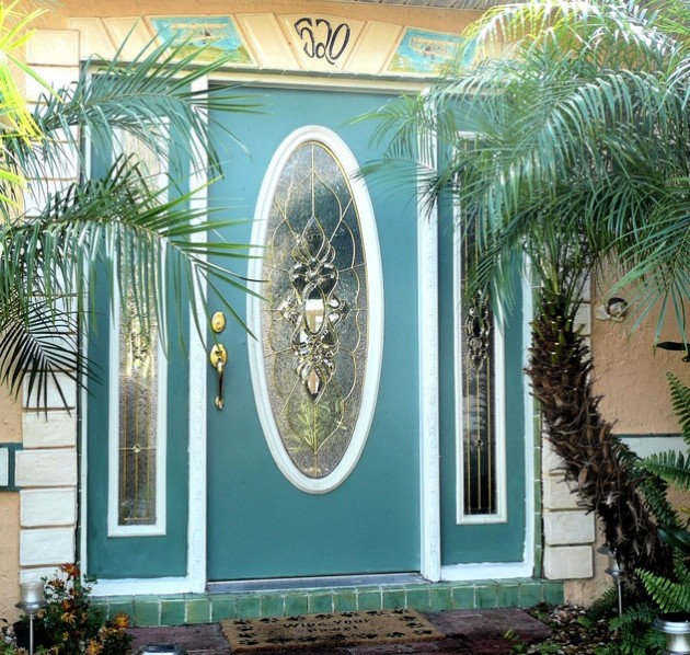 28 Lovely Colored Front Doors