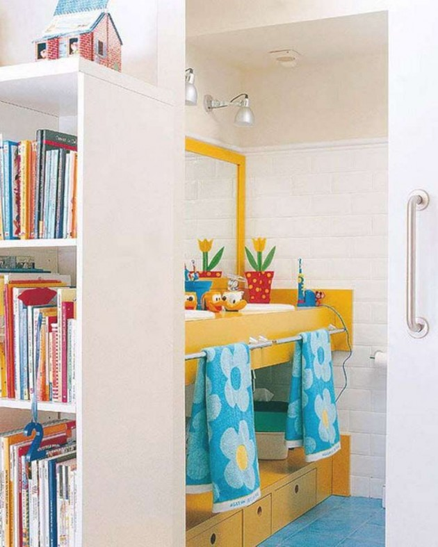 30 Colorful and Fun Kids Bathroom Ideas on Fun Bathroom Ideas  id=56333