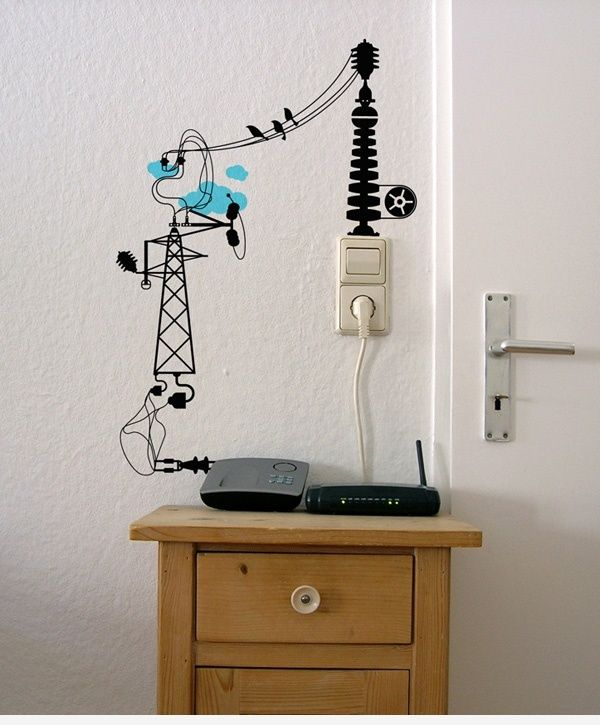 Home Wall Color Ideas: 15 Creative Ideas How To Hide The Cables In Your Home