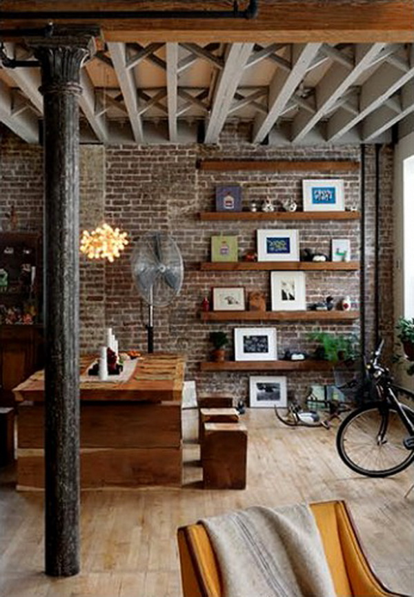 Wall Decor The Brick : Amazing apartments with brick walls