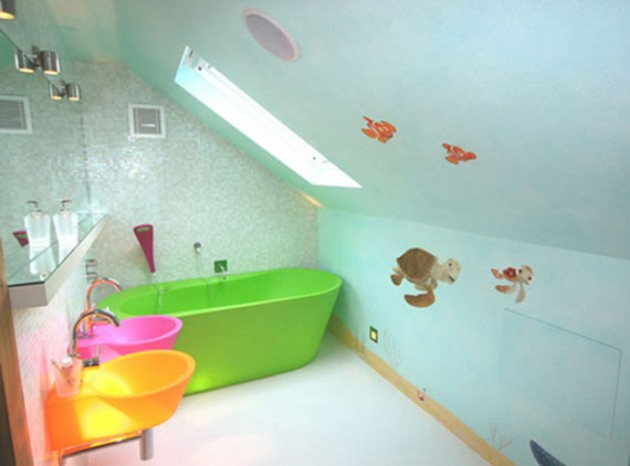 outstanding kids bathroom color | 30 Colorful and Fun Kids Bathroom Ideas