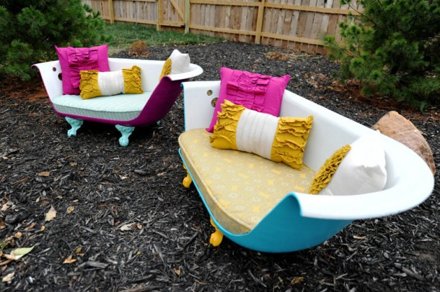 DIY Repurposed Bathtubs