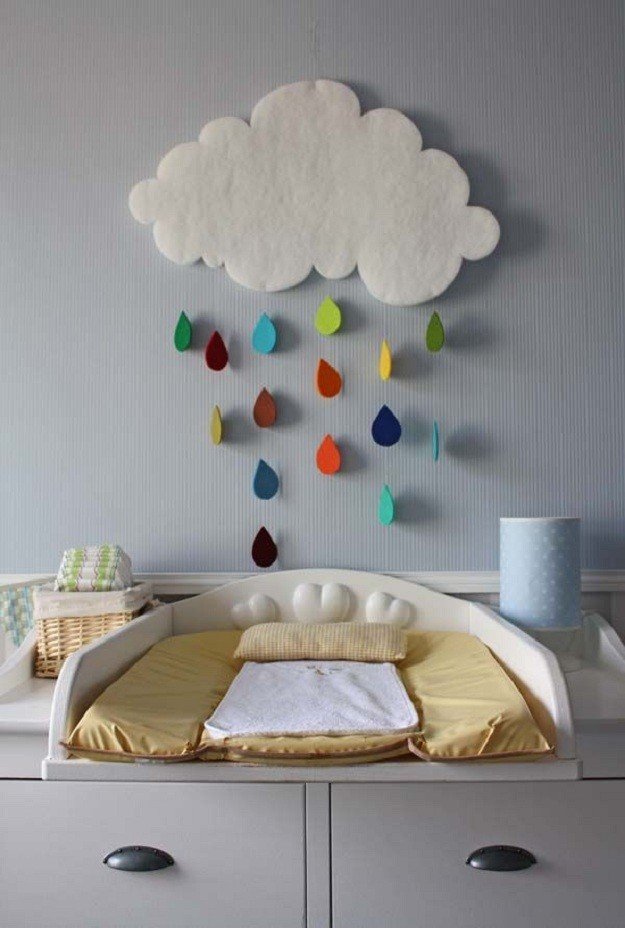 25 cute diy wall art ideas for kids room for Cute easy diy bedroom ideas