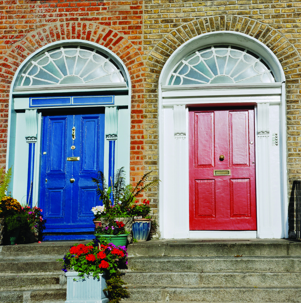 Entry Front Doors: 28 Lovely Colored Front Doors