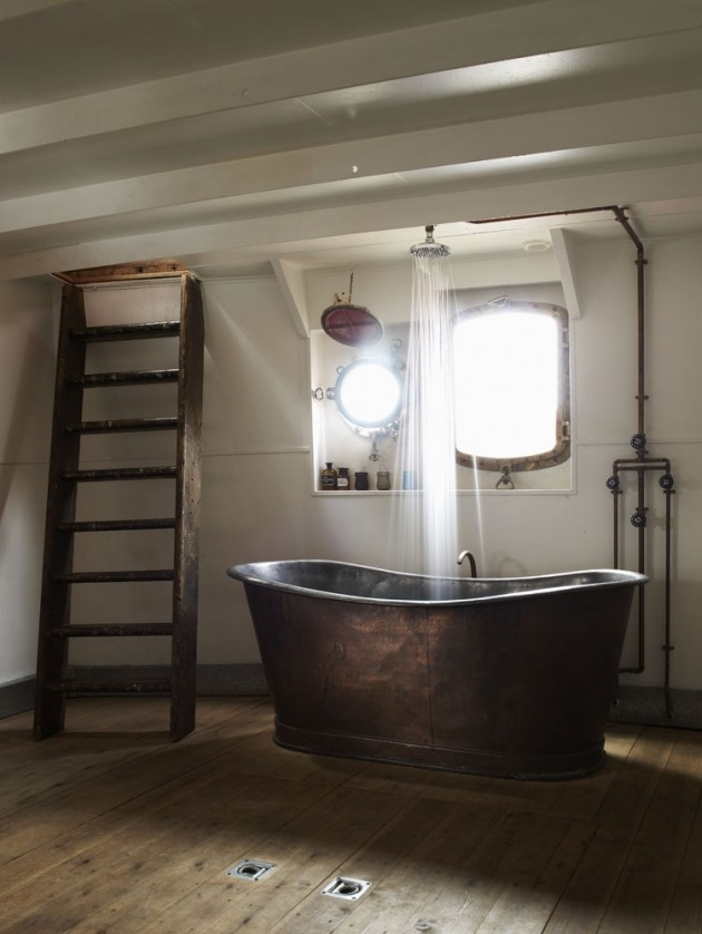 30 inspiring industrial bathroom ideas for Industrial bathroom ideas